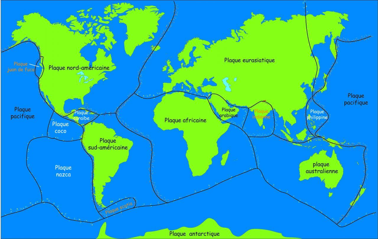 """Résultat de recherche d'images pour """"plaques tectoniques"""""""